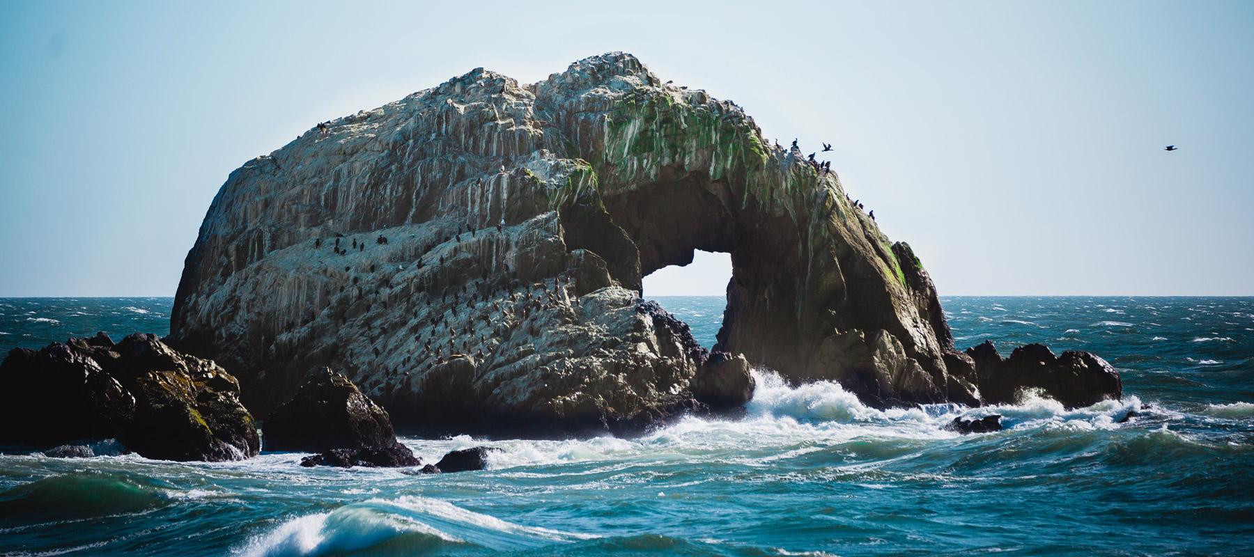 Water next to the ocean - Rock
